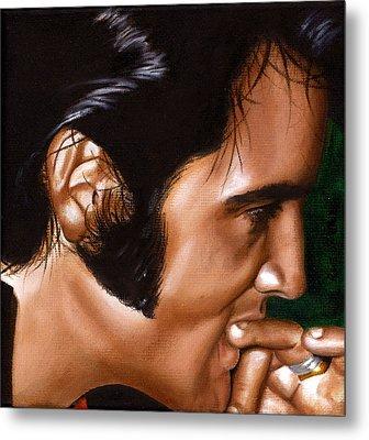 Elvis 24 1969 Metal Print by Rob De Vries