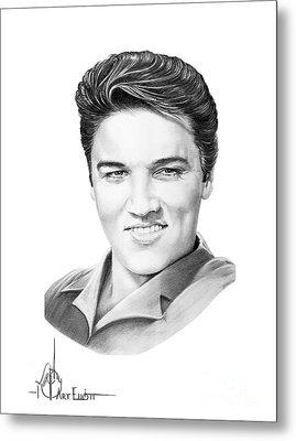 Elvis Aaron Presley Metal Print by Murphy Elliott