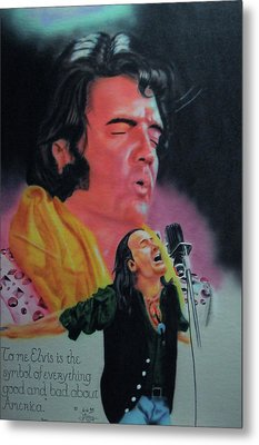 Elvis And Jon Metal Print