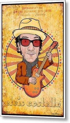 Elvis Costello Metal Print by John Goldacker