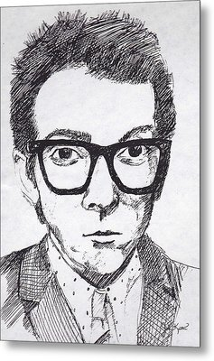 Elvis Costello Metal Print by John Keaton