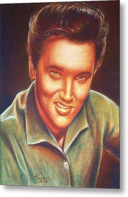 Elvis In Color Metal Print by Anastasis  Anastasi