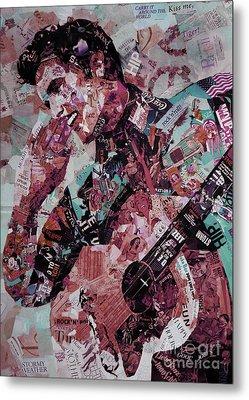 Elvis Presley Collage Art 01 Metal Print by Gull G