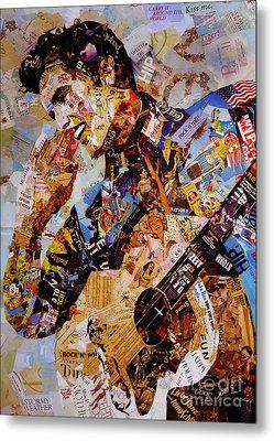 Elvis Presley Collage Art  Metal Print by Gull G