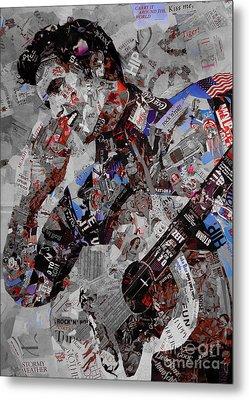 Elvis Presley Collage Metal Print by Gull G