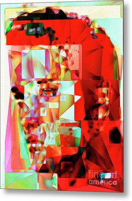 Metal Print featuring the photograph Elvis Presley In Abstract Cubism 20170326 V3 by Wingsdomain Art and Photography