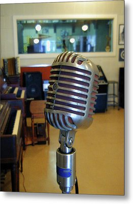 Metal Print featuring the photograph Elvis Presley Microphone by Mark Czerniec