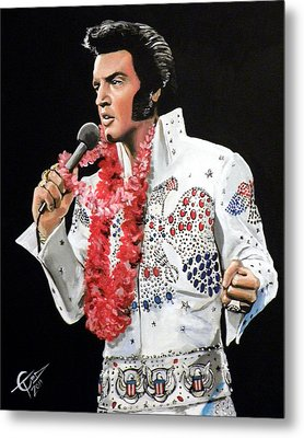 Elvis Metal Print by Tom Carlton