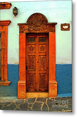 Embellished Puerta Metal Print by Mexicolors Art Photography