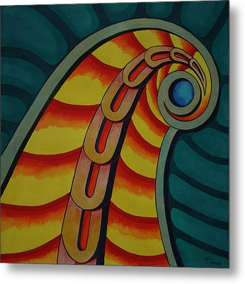 Metal Print featuring the painting Embellishments I by Paul Amaranto