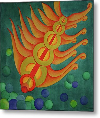 Metal Print featuring the painting Embellishments II by Paul Amaranto
