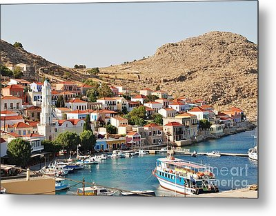 Emborio Village On Halki Metal Print