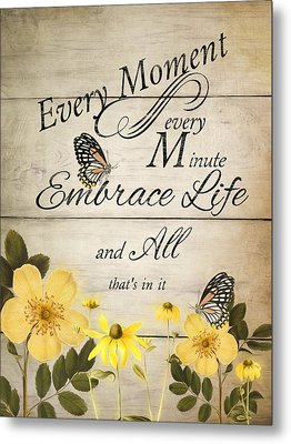 Metal Print featuring the digital art Embrace Life by Robin-Lee Vieira