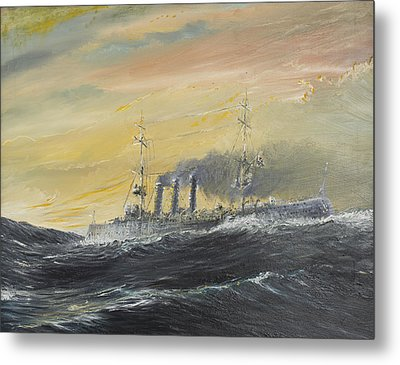 Emden Rides The Waves Metal Print by Vincent Alexander Booth