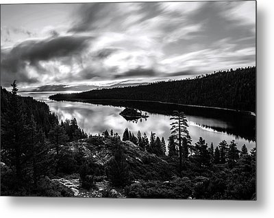 Metal Print featuring the photograph Emerald Bay Black And White by Brad Scott