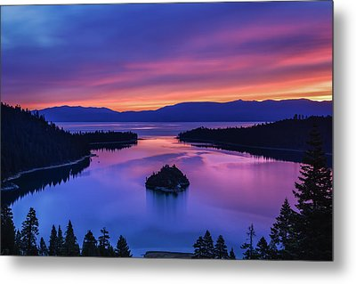 Emerald Bay Clouds At Sunrise Metal Print by Marc Crumpler