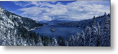 Emerald Bay First Snow Metal Print