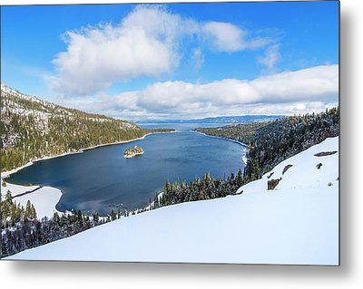 Metal Print featuring the photograph Emerald Bay Slopes by Brad Scott