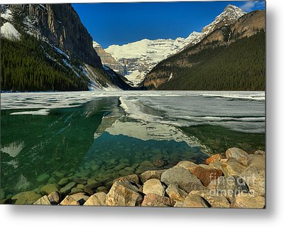 Emerald Blue Lake Louise Spring Waters Metal Print
