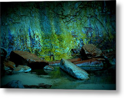 Emerald Cave Metal Print by Nature Macabre Photography