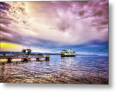 Emerald City Ferry Metal Print by Spencer McDonald