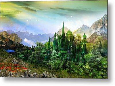 Emerald City Metal Print by Mary Hood