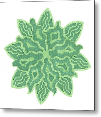Emerald Flower Metal Print by Jill Lenzmeier