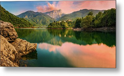 Emerald Mirror Metal Print