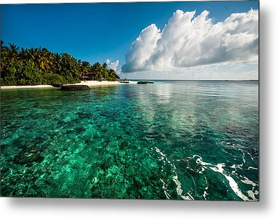 Emerald Purity. Maldives Metal Print by Jenny Rainbow