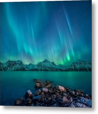 Emerald Sky Metal Print by Tor-Ivar Naess