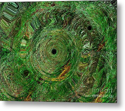 Metal Print featuring the photograph Emerald Swirls by Kathie Chicoine