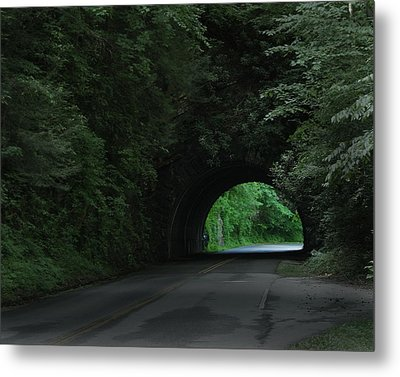 Emerald Tunnel Metal Print