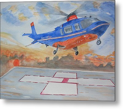 Emergency Landing Metal Print