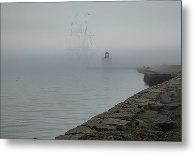 Metal Print featuring the photograph Emerging From The Fog by Jeff Folger