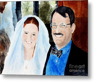 Emily And Jason Metal Print by Monte Toon