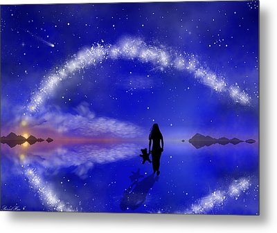 Metal Print featuring the digital art Emily's Journey Part 1 by Bernd Hau