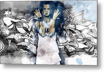 Eminem Graffitti2 Metal Print by Jani Heinonen