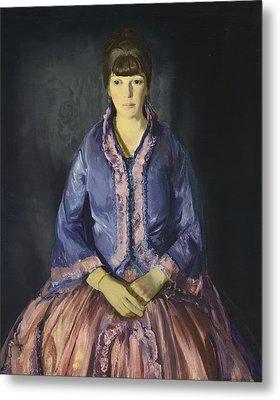 Emma In The Purple Dress Metal Print