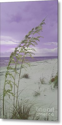 Emma Kate's Purple Beach Metal Print