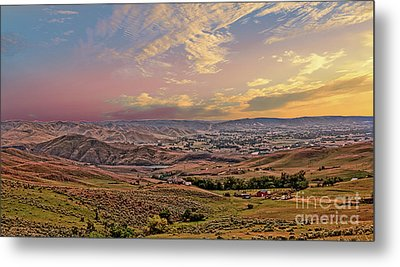 Emmett Valley From Squaw Butte Metal Print