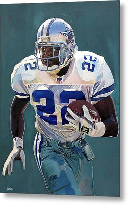 Emmitt Smith - Dallas Cowboys Metal Print