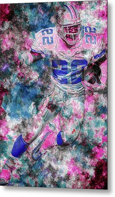 Metal Print featuring the photograph Emmitt Smith Nfl Football Painting Digital  Es22 One by David Haskett