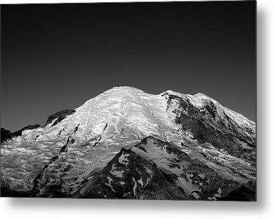 Emmons And Winthrope Glaciers On Mount Rainier Metal Print