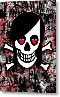 Emo Heart Breaker Metal Print by Roseanne Jones