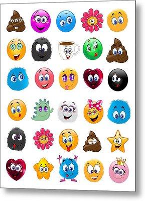 Emoji - Emoticons Metal Print