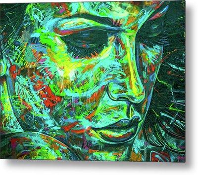 Emotion Green Metal Print