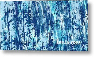 Emotional Art Break Free   Metal Print