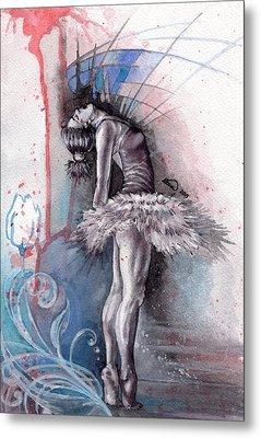 Emotional Ballet Dance Metal Print