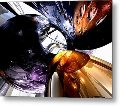 Emotional Scars Abstract Metal Print by Alexander Butler