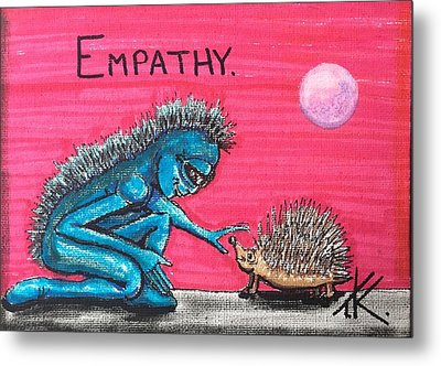 Empathetic Alien Metal Print by Similar Alien